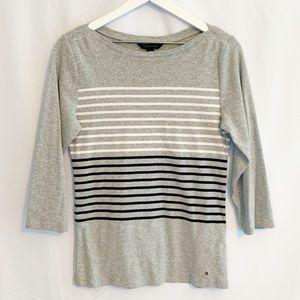 Tommy Hilfiger Striped 3/4 Sleeve Shirt